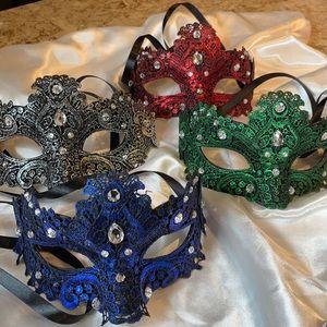 Masks - set of 4 Hallowe'en or masquerade
